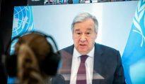 António Guterres afirma que vacina deve ser considerada um bem público mundial